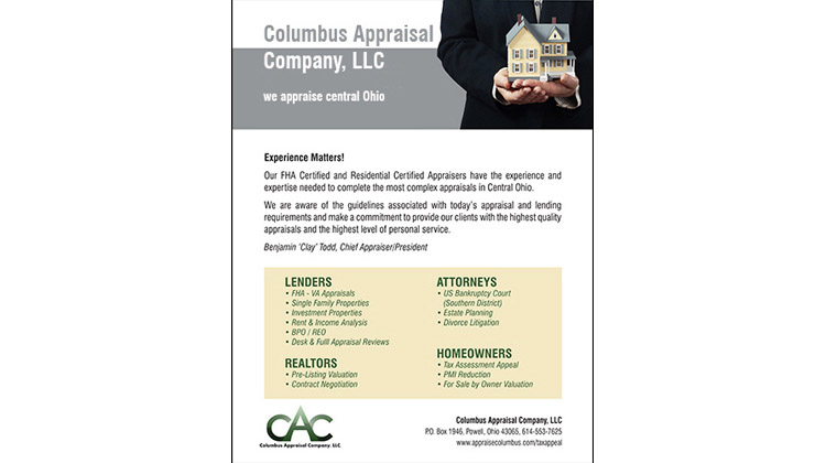 A product flyer for a home appraisal service