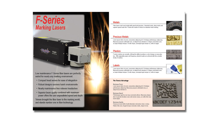 An image showing the cover of the Telesis Technologies Laser catalog.