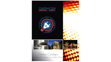 An image showing the cover of the Contractor Lighting and Supply product catalog