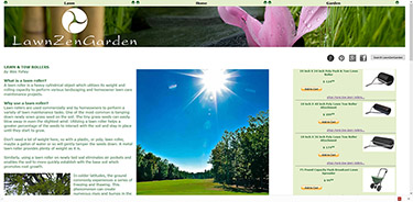 A screen shot of a website with a lawn care article