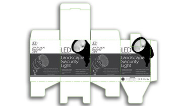 Layout of a product package for a BEST Lighting Products outdoor light