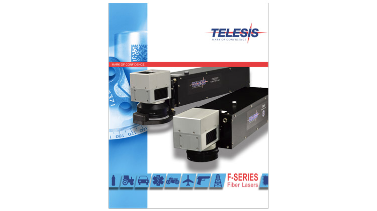 An image showing the cover of the Telesis Technologies Fiber Laser catalog.