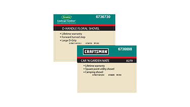 Graphics for retail store product identifiers
